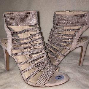 NWOB Vince Camuto Mauve Gladiator Sparkly Heels